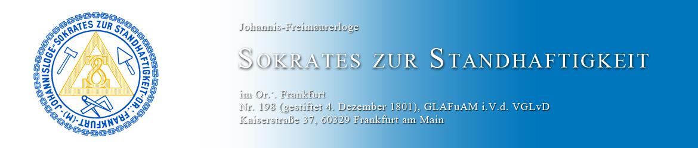 """Johannis-Freimaurerloge """"Sokrates zur Standhaftigkeit"""" im Or. Frankfurt am Main"""